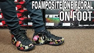 NIKE FOAMPOSITE ONE FLORAL REVIEW \u0026 ON