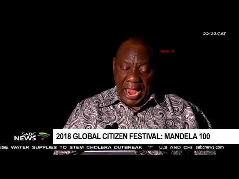 President Cyril Ramaphosa praises the 2018 Global Citizen Festival
