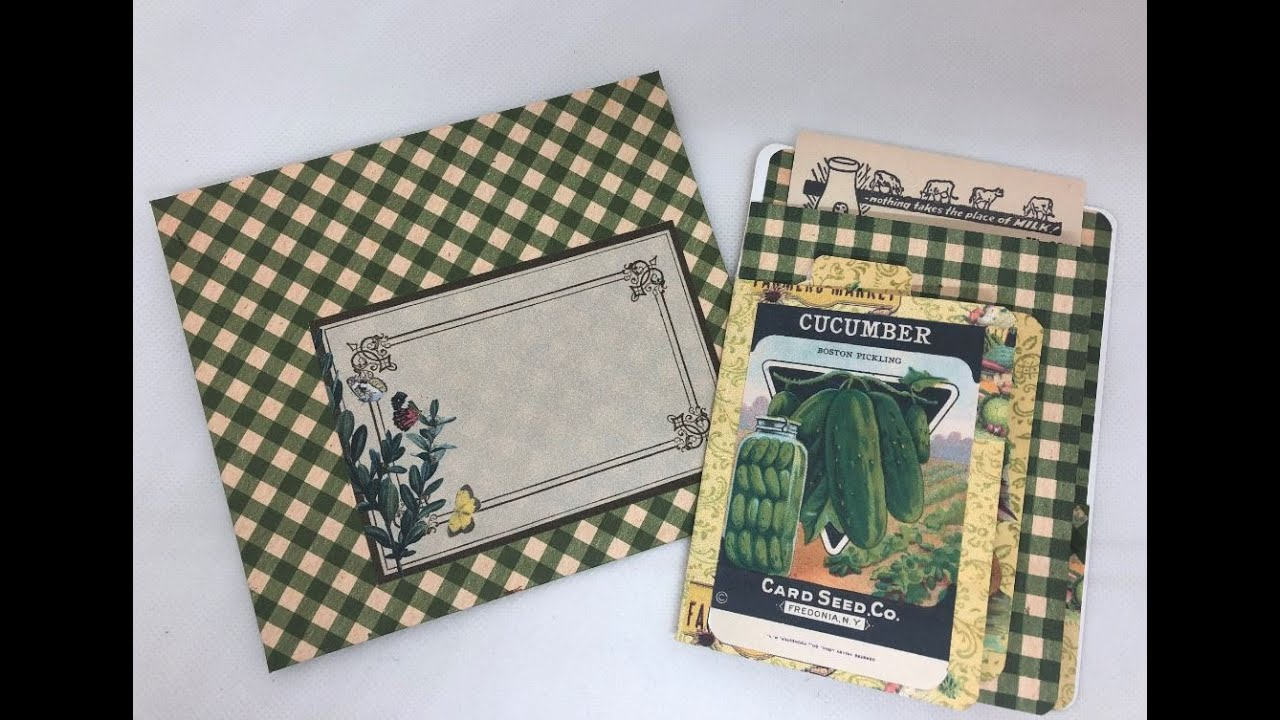 Vintage inspired Fall theme 3 page card
