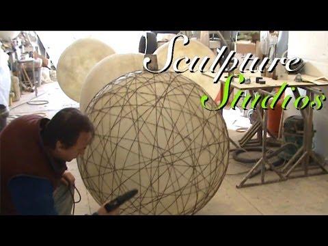 Fibreglass String Lanterns by Sculpture Studios