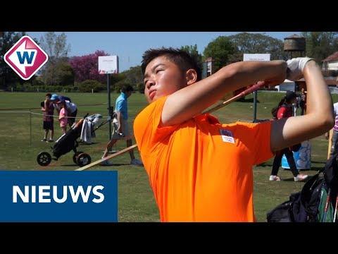 Golfer Jerry Ji op de Jeugd Olympsche Spelen