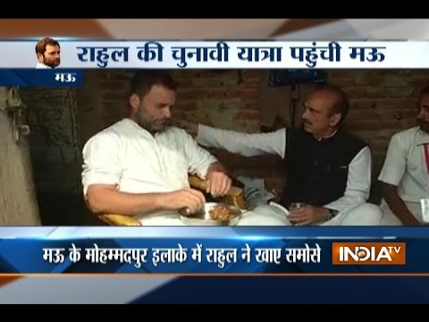 Rahul Gandhi Stops At Roadside Shanty To Eat Samosa-Jalebi During Break From Kisan Yatra