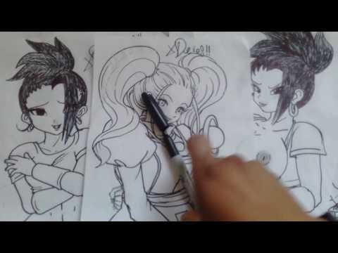 Dibuja Paso a Paso a la HERMANA DE VADOS de DRAGON BALL SUPER XDEIOS 03