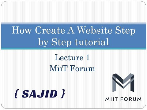 How To Create A Website Using HTML And CSS Step By Step Website Tutorial 2020 Lecture 1