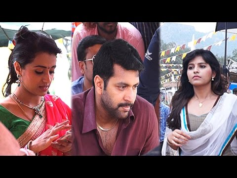 Exclusive Shooting Spot: Trisha and Anjali at Sakalakala Vallavan On Location | Appatakkar Interview