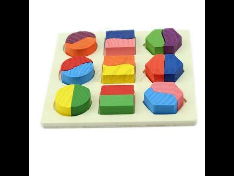 Деревянная детская игрушка-головоломка с AliExpress
