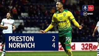 Preston North End vs Norwich City ( 2-4) | Emirates FA Cup highlights