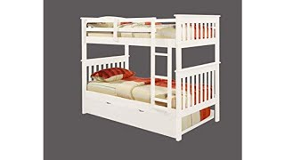 ✋ REVIEW of Donco Boy Loft Bed! Donco Kids 122-3-TFW Mission Bunk Bed Twin/Full White