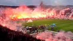 Amazing Pyro Show - Fireworks - PAOK Saloniki vs Olympiakos Piräus 16.04.2014