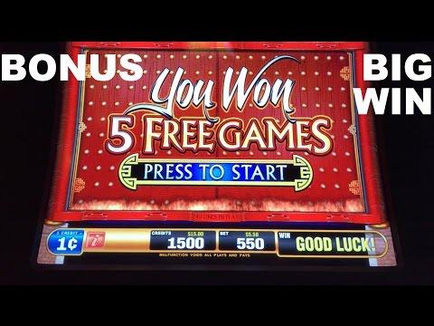 Dragon Rising Live Play with BONUS and BIG WIN Max Bet Bally Slot Machine