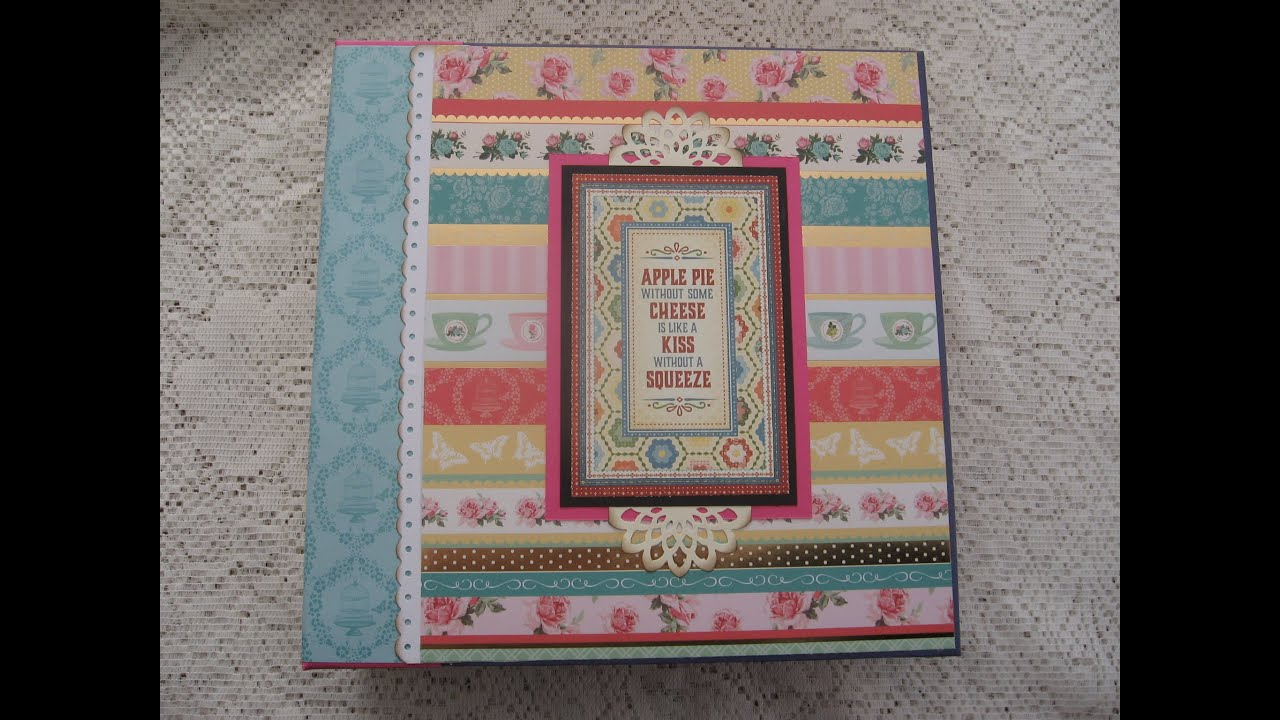 How to scrapbook a recipe book - Large Recipe Scrapbook Album And New Tutorial Also Available W Metric Measurements
