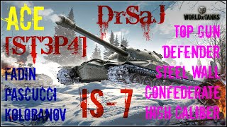 WOT - IS-7, 8 legendary medals  - 9k Dmg by DrSaJ [ST3P4]