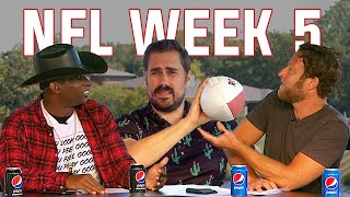 Dave Portnoy Deion Sanders Big Cat Pick Every NFL Week 5 Game — Barstool Pro Football Football Show