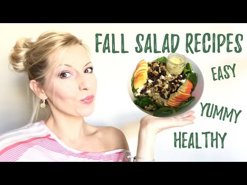 5 FALL INSPIRED SALAD RECIPES | EASY HEALTHY RECIPES | THANKSGIVING side dish ideas