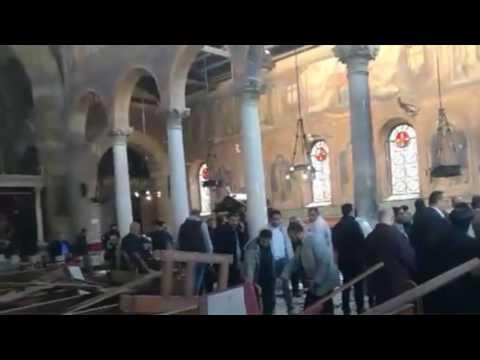 Bomb blast inside Coptic Christian cathedral in Cairo kills at least 22 people. Egypt