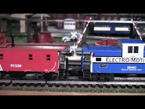 MTH Premier UP Big Boy (4-8-8-4) O-Gauge Steam Locomotive with the Caboose Train in True HD 1080p