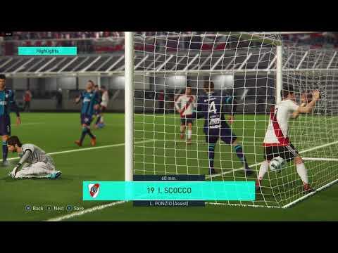 PES 2018 - River Plate 8 - Atl. Tucumán 0