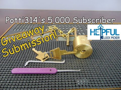 [132] Potti314's 500th Video / 5,000 Subscriber Giveaway Entry: HelpfulLockPicker