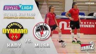 18.11.2018 KaDy - MuSaFutsal klo 17.00 Naisten Futsal-Liiga