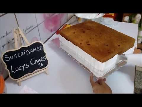Cómo decorar con merengue torta  rectangular?