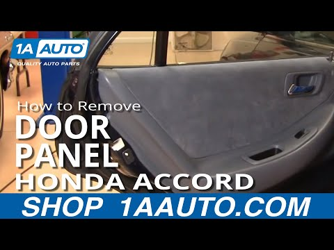 How To Remove Rear Door Panel 98 02 Honda Accord Youtube
