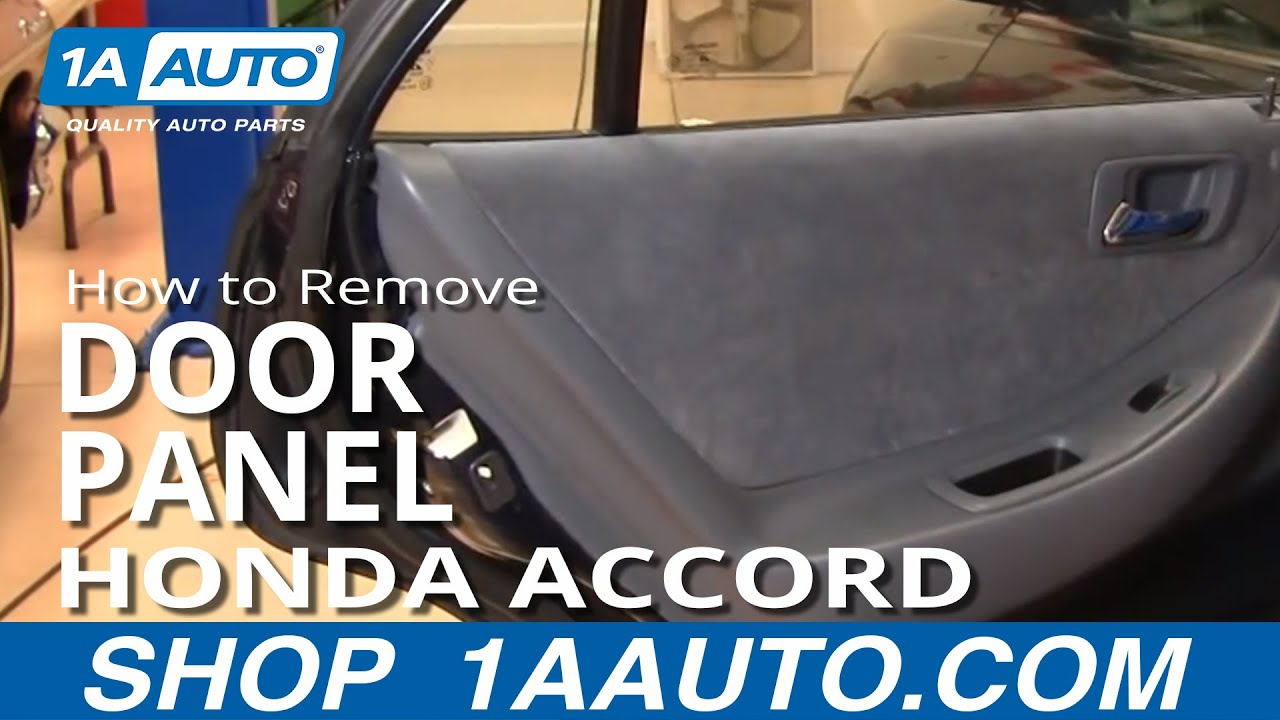 How To Remove Install Rear Door Panel Honda Accord 98-02 1AAuto.com ...