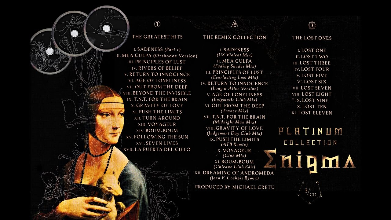 Enigma cd cover of the platinum collection 2009
