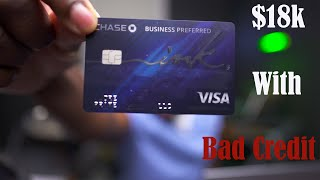 $18,000 Business Credit Card Limit With Bad Credit | How To Buy Real Estate With Credit Card