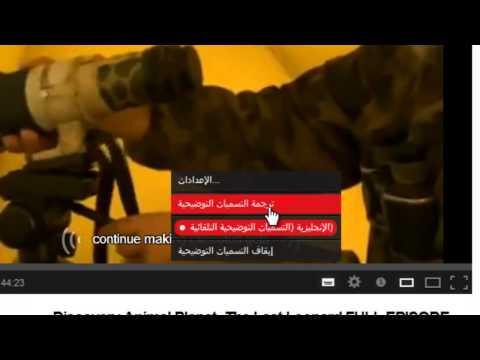 ترجمة مقاطع اليوتيوب الإنجليزية إلى اللغة العربية