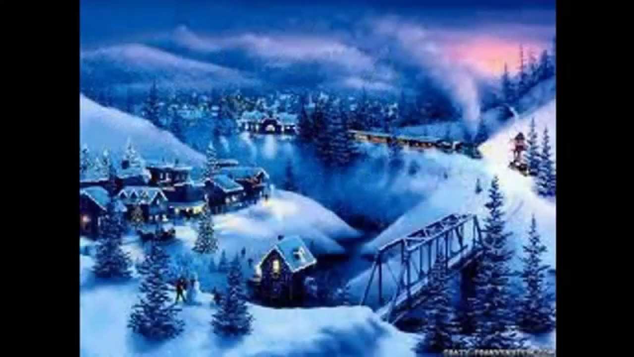 Live 3d Wallpaper Snowing Paesaggi Natalizi Youtube