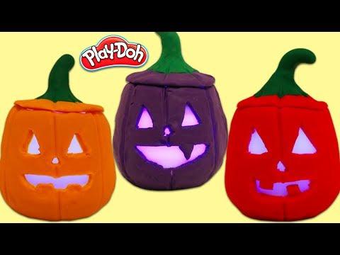 Play Doh Jack O Lantern Surprise Toys Opening!