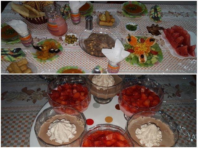 طاولة اول يوم من رمضان2018 (افكار حيل و وصفات) يوم كامل