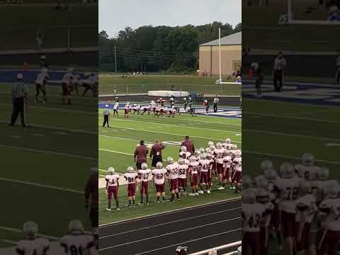 Football Highlight 6yd TD Siloam Springs middle school