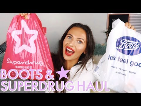 HUGE SUPERDRUG & BOOTS HAUL