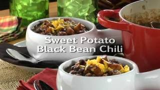 Chef Danielle Making Sweet Potato Black Bean Chili on the Mr. Food Show