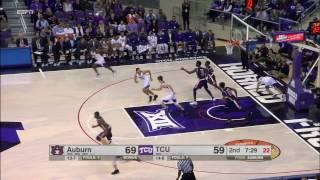 Auburn vs TCU Basketball Highlights 1-28-17