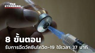 8 ขั้นตอนรับการฉีดวัคซีนโควิด-19 ใช้เวลา 37 นาที