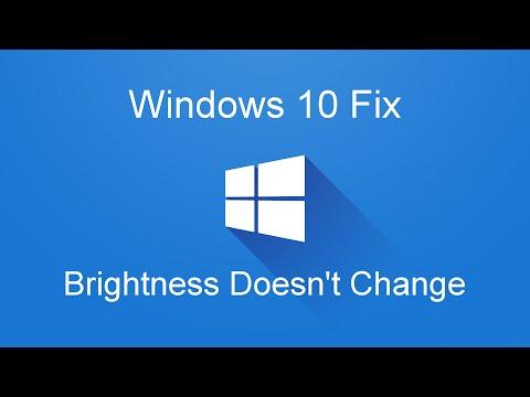 Windows 10 Fix: Laptop Brightness Doesn't Change