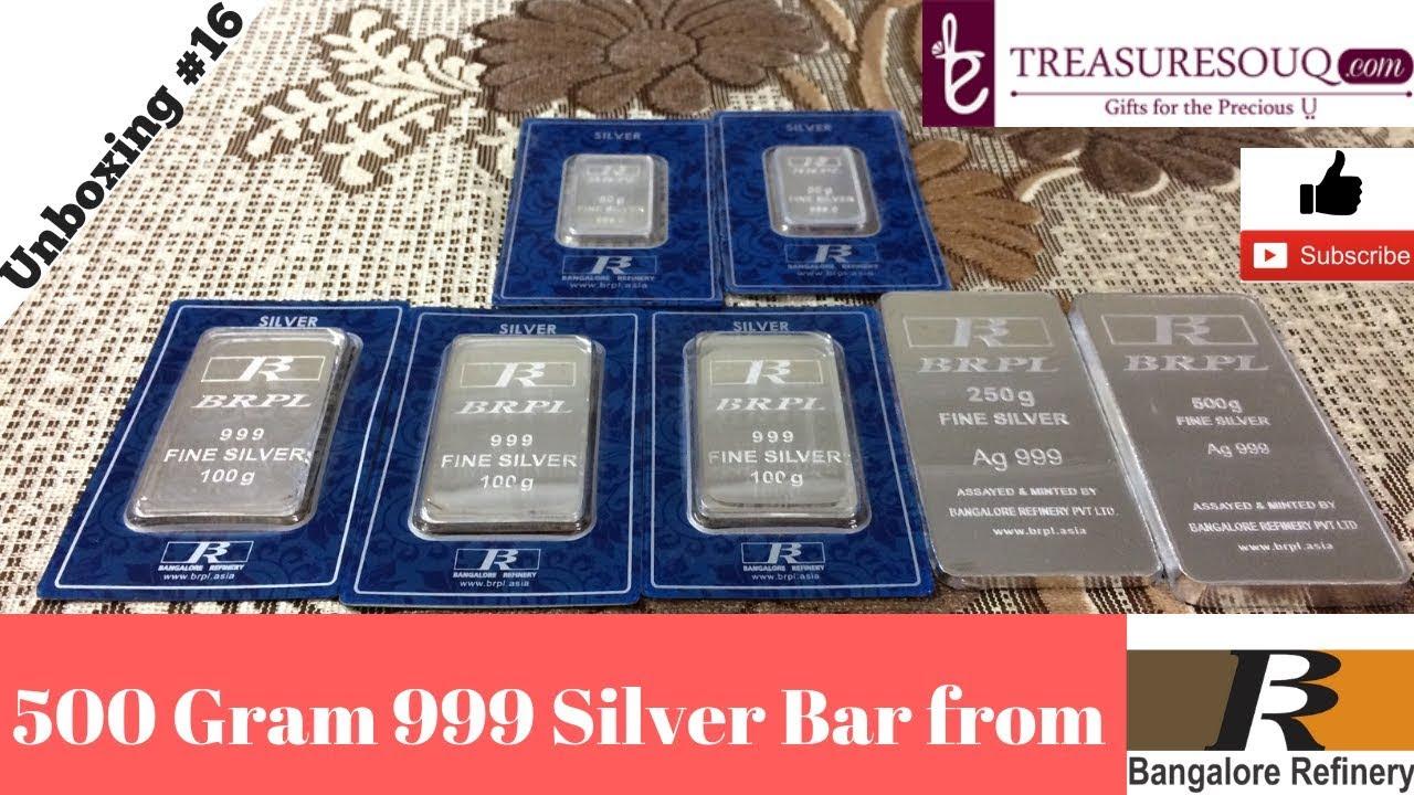 500 Gram 999 Silver Brpl Bar Unboxing Comparison India 2017