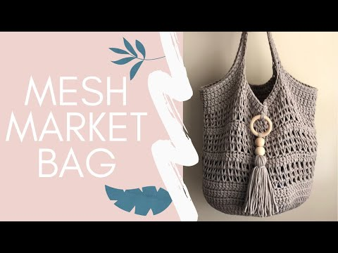 The Mesh Market Bag-Easy Crochet Pattern