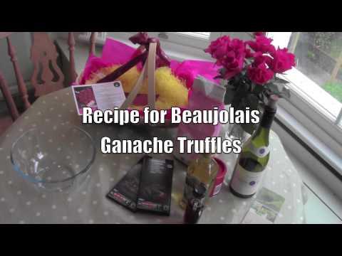 Beaujolais Ganache Truffles: