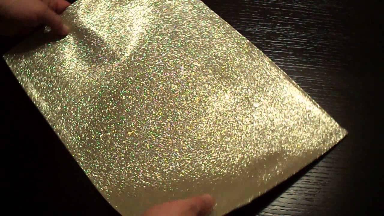 Stunning White Gold Glitter Fabric Placemats Youtube