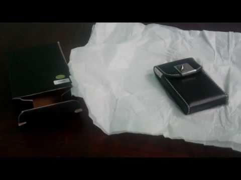Visol Pristine Leatherette & Aluminum Business Card Case