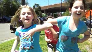 Kids doing chicken dance