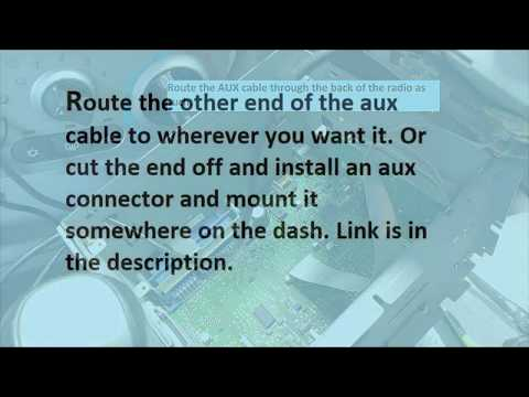 Add real AUX to Chevy Cobalt or any car radio without XM or fm transmitters