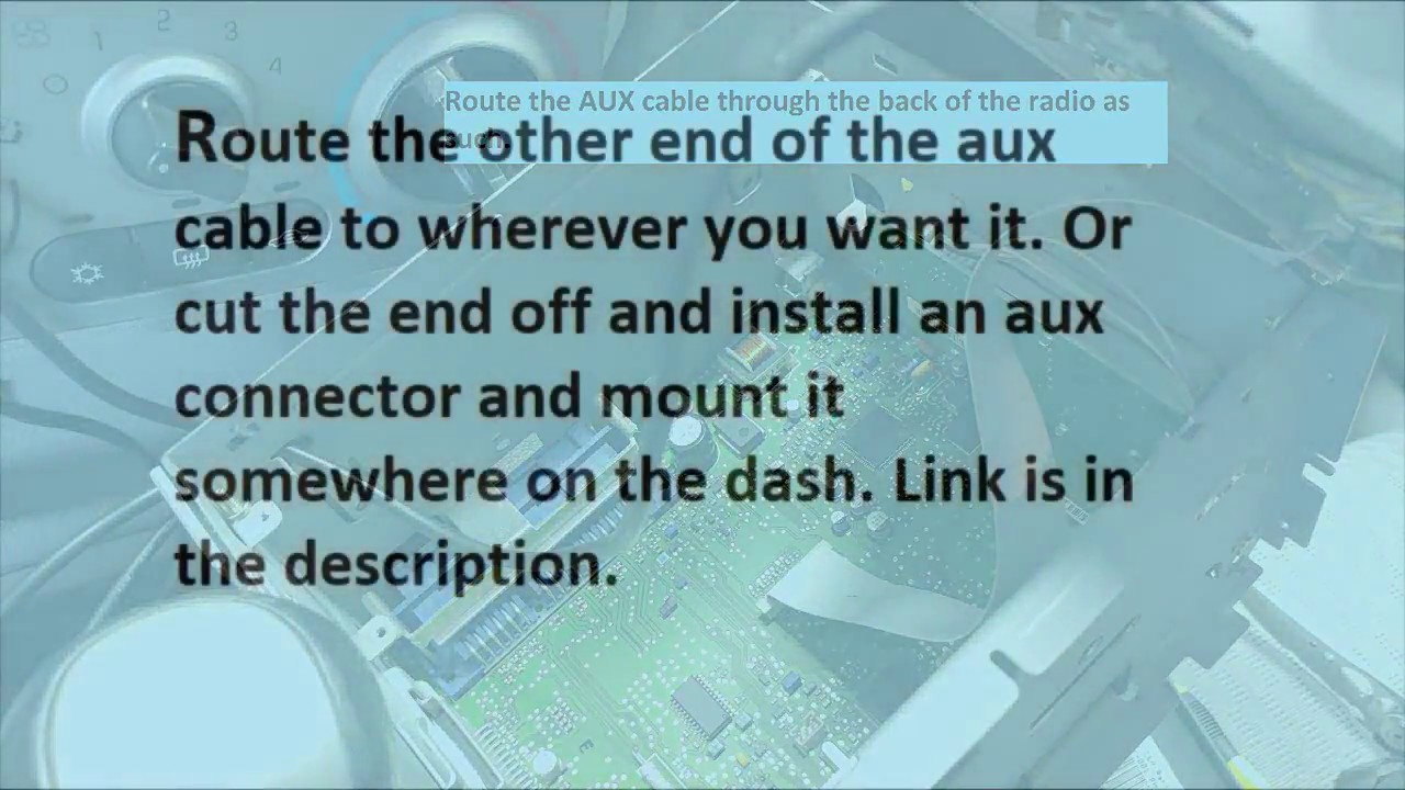 Add real AUX to Chevy Cobalt or any car radio without XM or fm ...