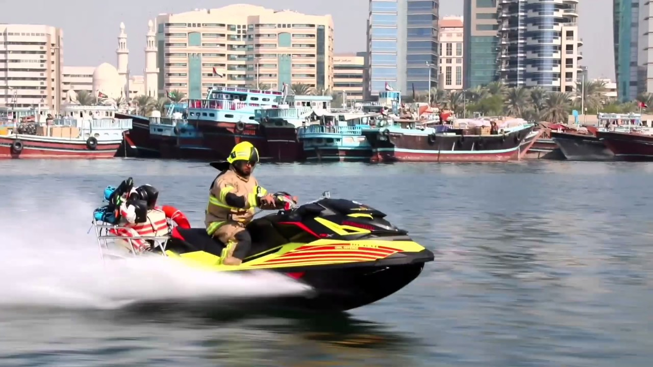 Waterjet-propelled hoverboards elevate Dubai firefighters