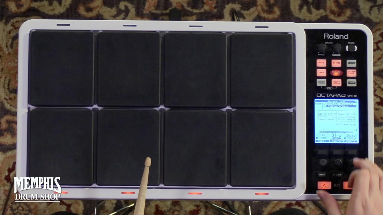 roland octapad spd 30 percussion pad youtube. Black Bedroom Furniture Sets. Home Design Ideas