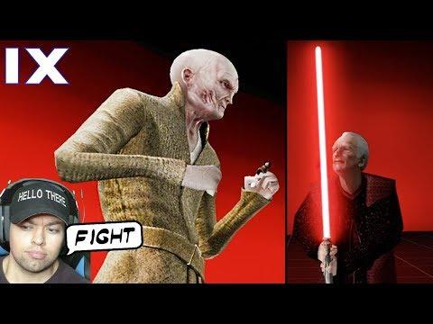 Snoke VS Palpatine Fight Simulator - Movie Duels 2
