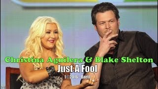 Christina Aguilera & Blake Shelton - Just A Fool (Karaoke - With Voice)